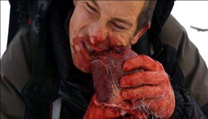 Bear Grylls mangia una renna
