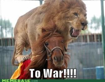 Leone su cavallo