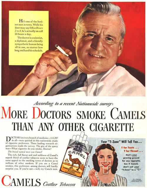 Dottori che fumano Camel
