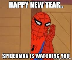 Happy New Year Spiderman