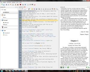 Questo invece è come funziona l'editor di Calibre con lo stesso libro, ma in formato AZW3, per il Kindle. È luuungo, ma a parte questo non noto differenze.