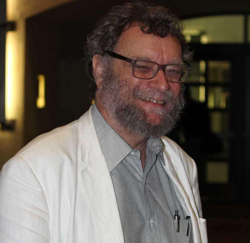 Michael Swanwick smiling