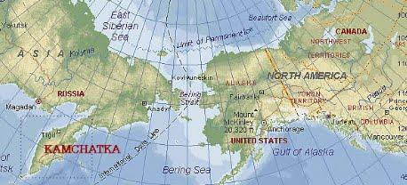 Mappa della Kamchatka