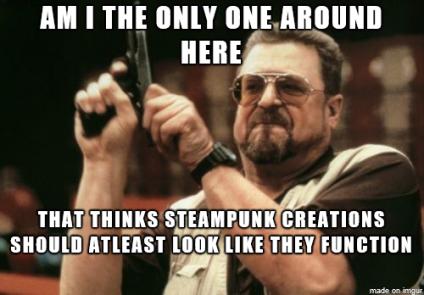 Steampunk useless junk