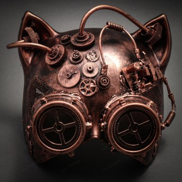 Steampunk goggles cat