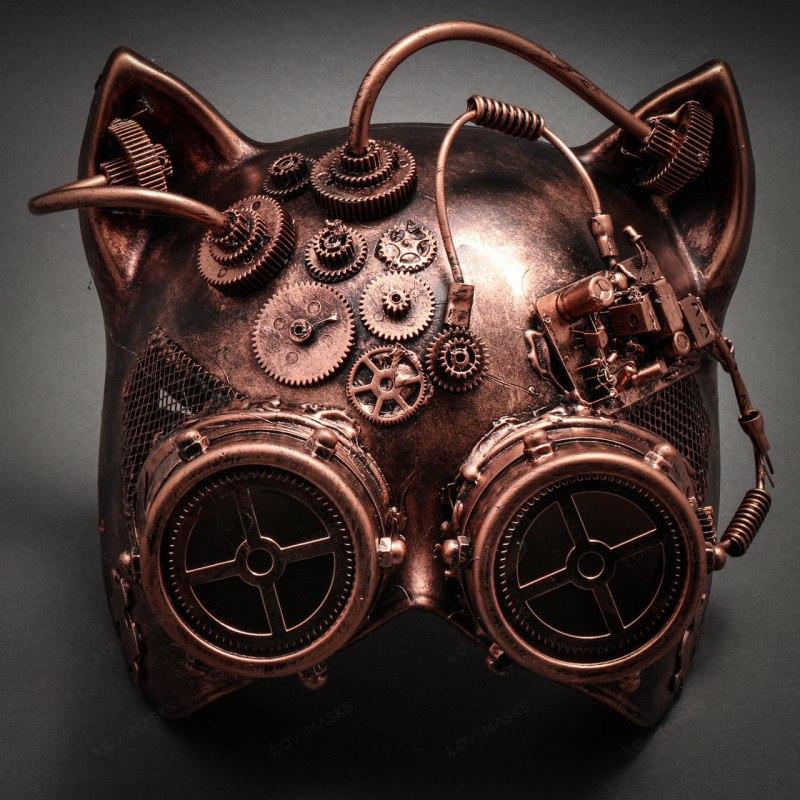 Steampunk goggles cat