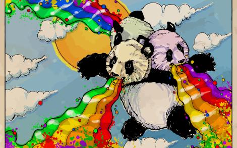 Panda Arcobaleno